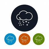 Icon sleet ,   vector illustration