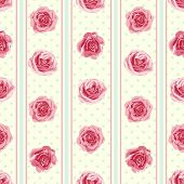 picture of english rose  - Flower seamless pattern with roses - JPG