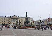 HELSINKI,FINLAND-AUGUST 23:Central Plaza of Helsinki in Finland