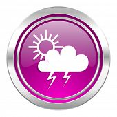 storm violet icon waether forecast sign  poster