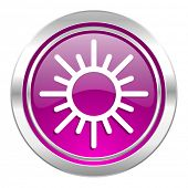 sun violet icon waether forecast sign  poster