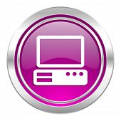 computer violet icon pc sign
