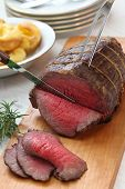 foto of wagyu  - roast beef carving - JPG