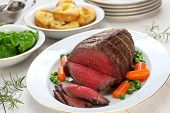 roast beef with yorkshire pudding, sunday dinner