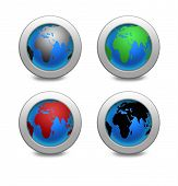 Illustration Earth Globe Set