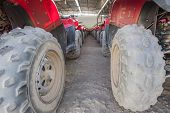 Closeup Of Atv Tires In A Row