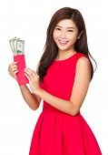 Chinese Woman open with USD pocket money