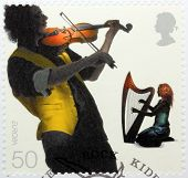 Fiddler And Harpist