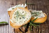 image of baguette  - Fresh made Herb Butter Baguettes with garlic - JPG