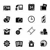 Silhouette Mobile phone menu icons