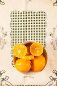 Fresh Cutted Orange. Vintage/retro Style.
