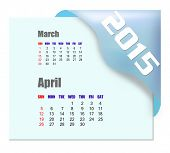 April 2015 calendar with past month series