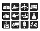 Silhouette Travel and transportation icons