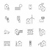 Smart Home Icon Outline
