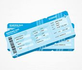 picture of boarding pass  - Vector Modern Airline boarding pass tickets isolated on white - JPG