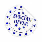 Round White Sticker Special Offer