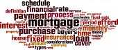 stock photo of amortization  - Mortgage word cloud concept - JPG