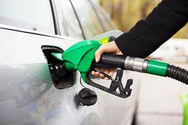 stock photo of fuel pump  - Close - JPG