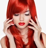 picture of long nails  - Beauty portrait - JPG