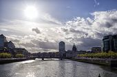 image of neo-classic  - Dublin skyline taken from IFSC Dublin Ireland - JPG