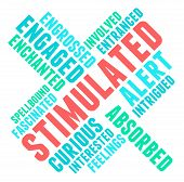 pic of stimulation  - Stimulated word cloud on a white background - JPG