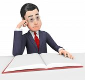 picture of fiction  - Businessman Reading Book Meaning Non - JPG