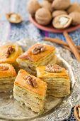 stock photo of baklava  - Baklava traditional oriental sweets - JPG