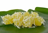 pic of cassava  - Thai dessert steam - JPG