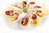 picture of chicory  - salad with chicory and almonds - JPG