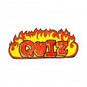 foto of quiz  - quiz sign cartoon - JPG