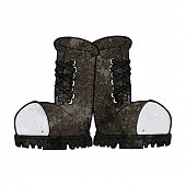 foto of toe  - cartoon steel toe cap boots - JPG