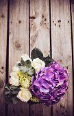 foto of purple rose  - Big bouquet of fresh flowers - JPG