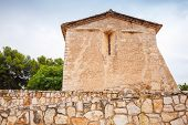 picture of mary  - Saint Michael church in Calafell town Spain - JPG