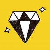 stock photo of drawing  - Diamond Doodle Drawing - JPG