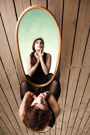 stock photo of thoughtfulness  - Solitude loneliness concept - JPG