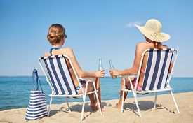 picture of sunbathers  - summer vacation - JPG