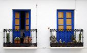 Blue Balconies In Andalusia