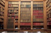 stock photo of magistrate  - Old Library in National Assembly in Paris France