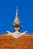 Постер, плакат: Gable On Apex Roof Thai Temple