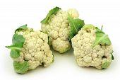 Whole Cauliflower isolated on white
