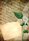 vintage letter texture background