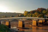 image of chepstow  - chepstow old bridge over wye river - JPG