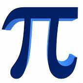 Símbolo de Pi 3D