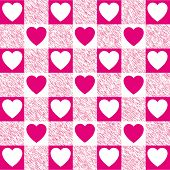 Checkered Heart Pattern