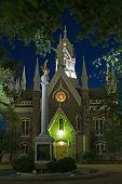 Mormon Church And Gull Monument