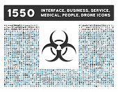 Biohazard Symbol Icon and More Interface, Business, Medical, People, Awards Vector Symbols poster
