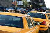 Parked Taxi Cab