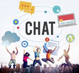picture of chat  - Chat Chatting Online Messaging Technology Concept - JPG