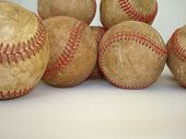 A Bunch Of Old Baseballs 2