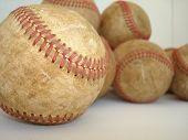 A Bunch Of Old Baseballs 3